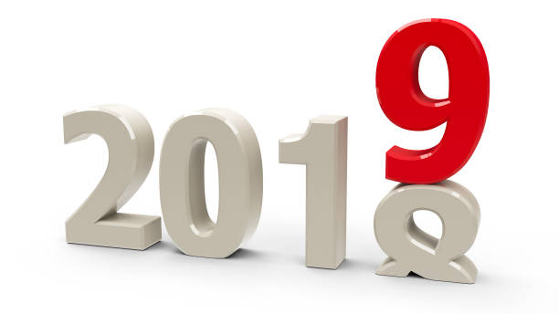2018-2019 2018-2019 change represents the new year 2019, three-dimensional rendering, 3D illustration 2018 stock pictures, royalty-free photos & images