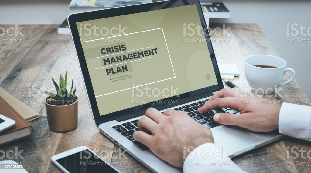 CRISIS MANAGEMENT PLAN stock photo