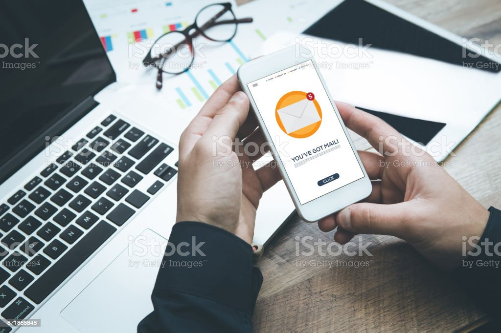 NEW MAIL INBOX CONCEPT stock photo