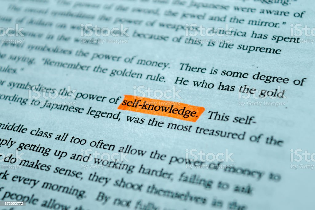 SELF KNOWLEDGE stock photo
