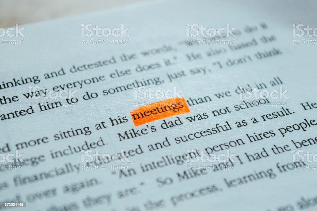 MEETINGS stock photo