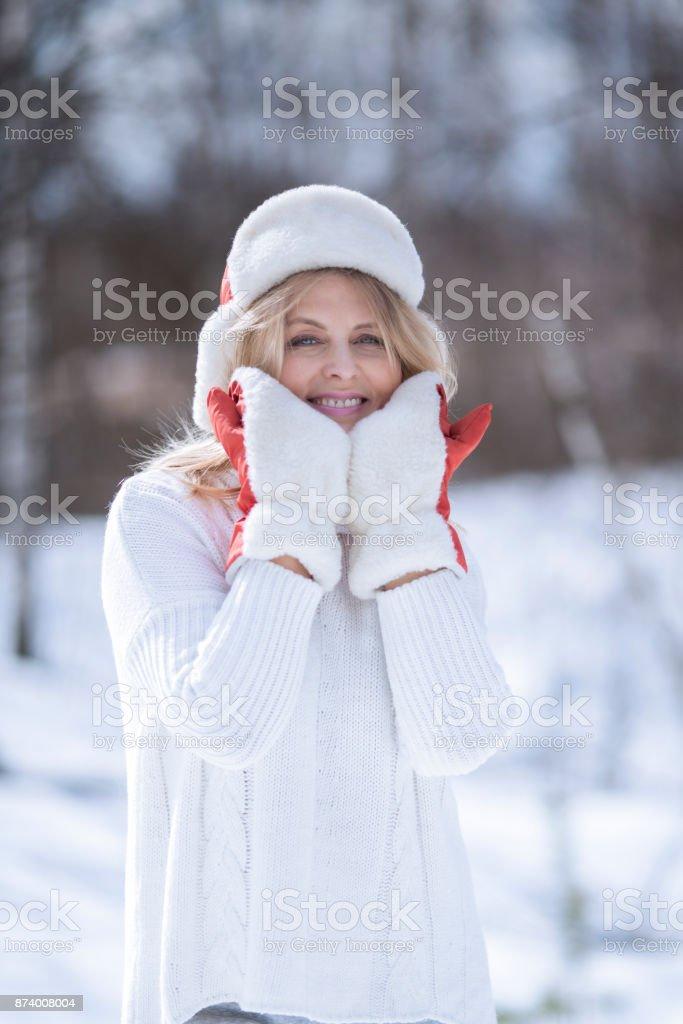 Зимний портрет stock photo