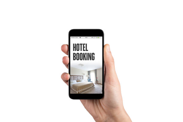 HOTEL BOOKING CONCEPT - foto stock