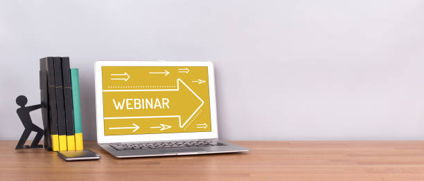 webinar concept - web conference stock photos and pictures