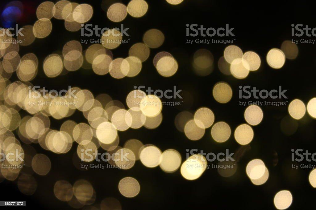 BLURRED LIGHTS FESTIVE stock photo
