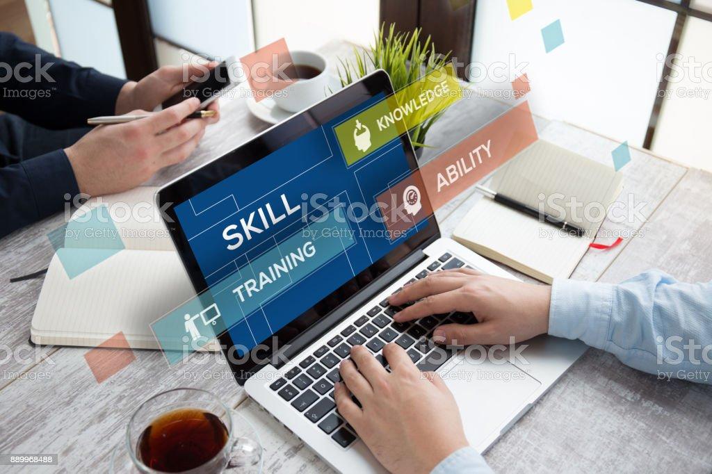 SKILL CONCEPT stock photo