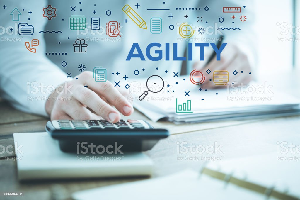 AGILITY CONCEPT stock photo