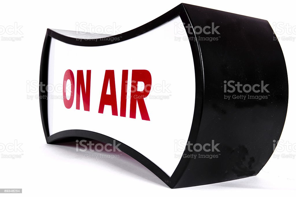 ON AIR royalty-free stock photo