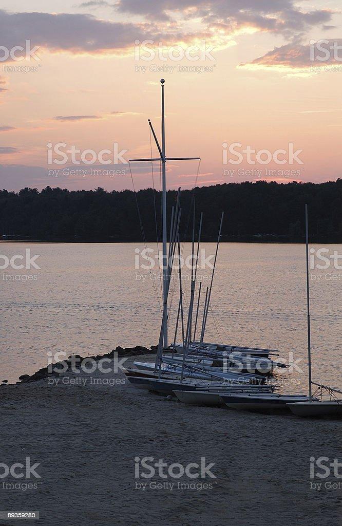 LAKE SUNSET royalty free stockfoto