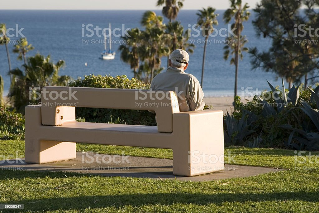 BENCH WITH A VIEW royalty-free stock photo