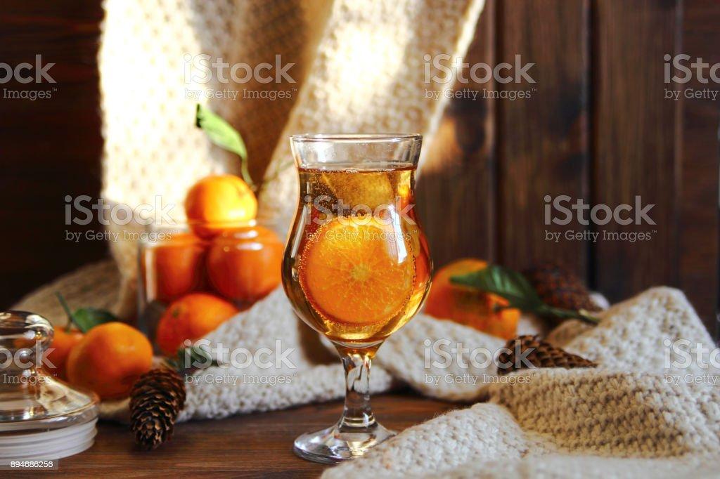мандариновый лимонад stock photo