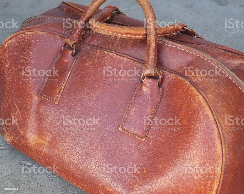 LEATHER DOCTOR'S BAG stock photo