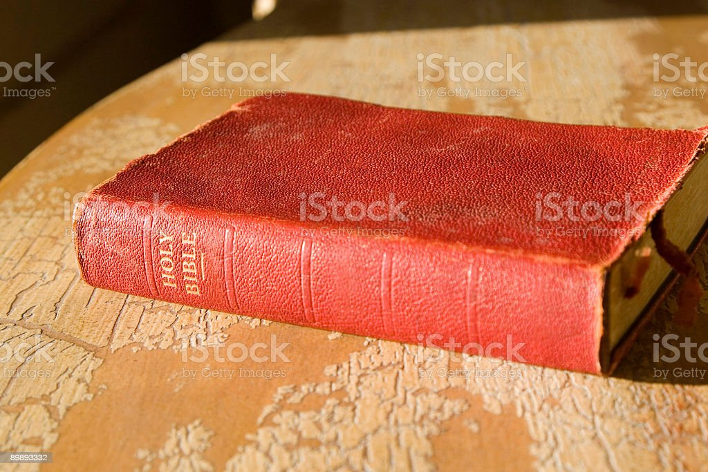 OLD RED BIBLE royalty-free stock photo