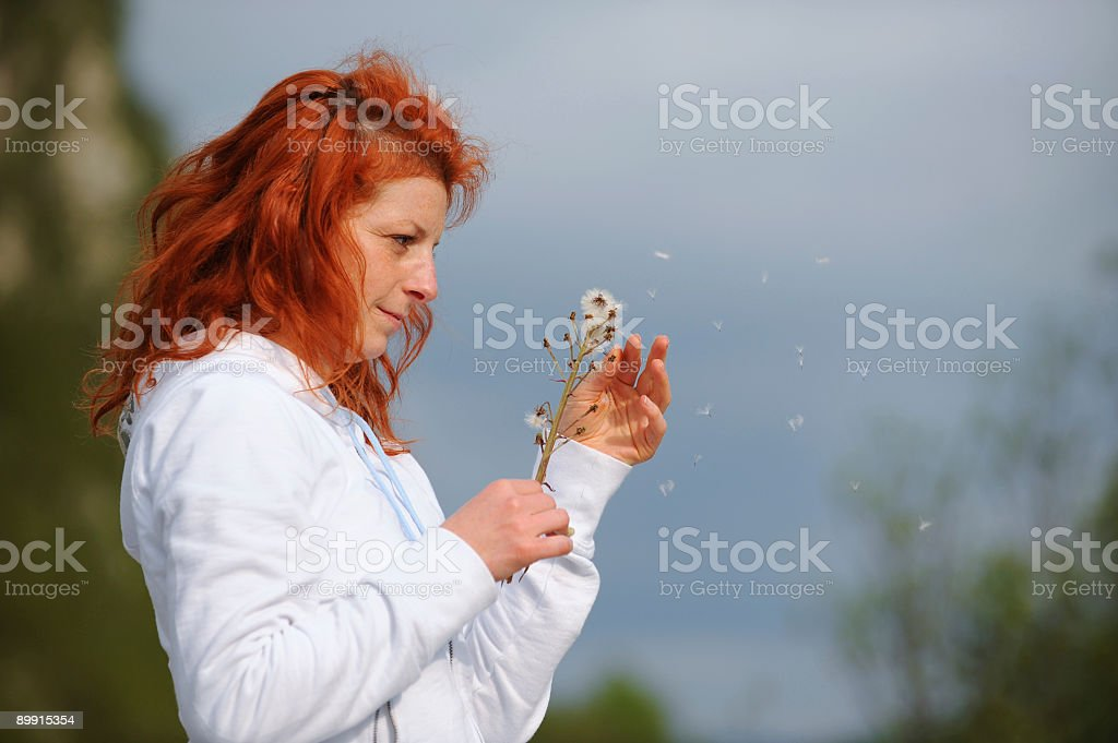 ENJOYING THE SPRINGTIME royalty-free stock photo