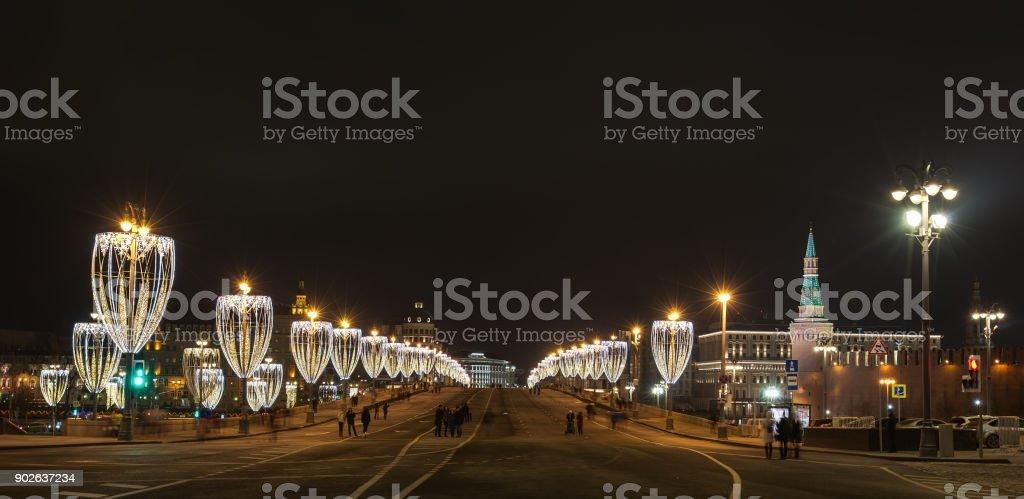 Ночная Москва stock photo