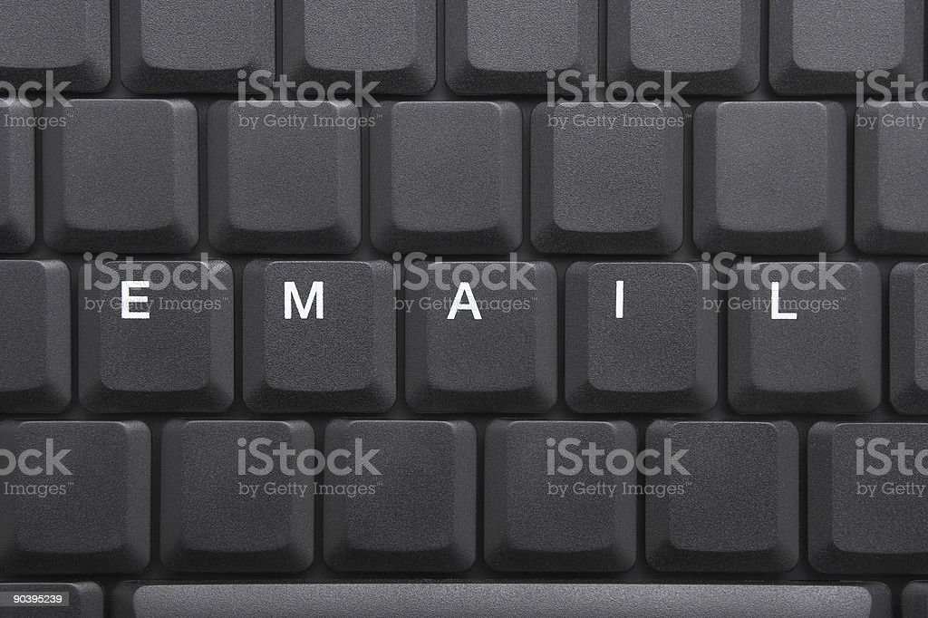 KEYBOARD - EMAIL royalty-free stock photo