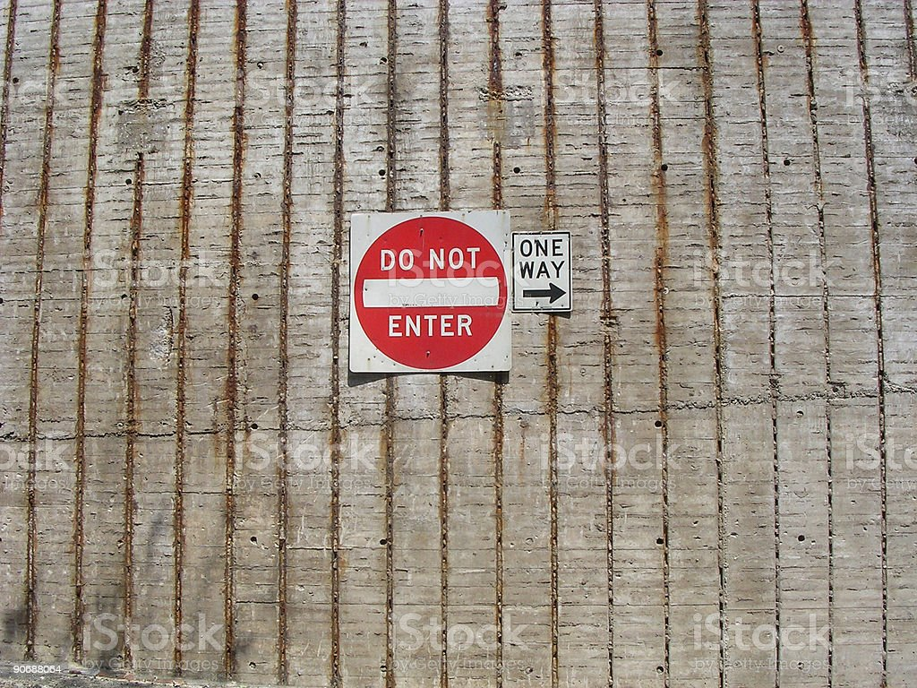 DO NOT ENTER / ONE WAY royalty-free stock photo