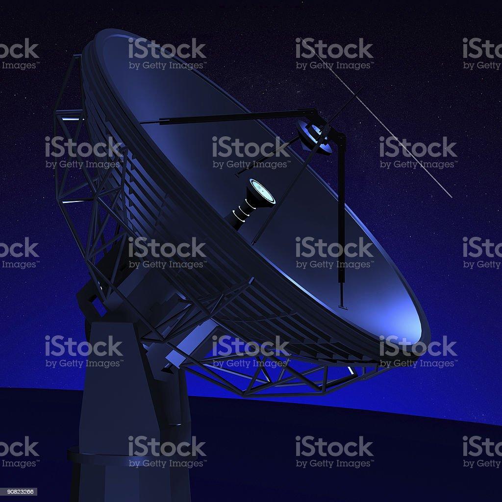 RADIO TELESCOPE royalty-free stock photo