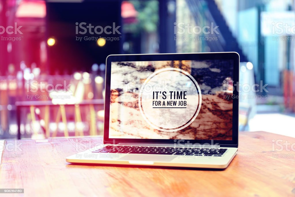ITS TIME FOR A NEW JOB royalty-free stock photo