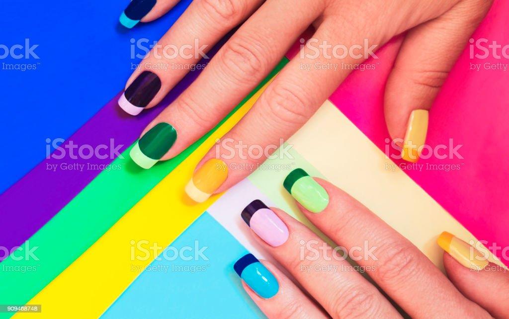 Color Manicura Francesa Foto De Stock Y Más Banco De