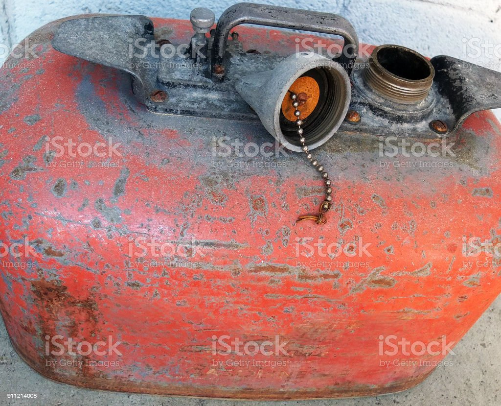 OUTBOARD GAS TANK stock photo