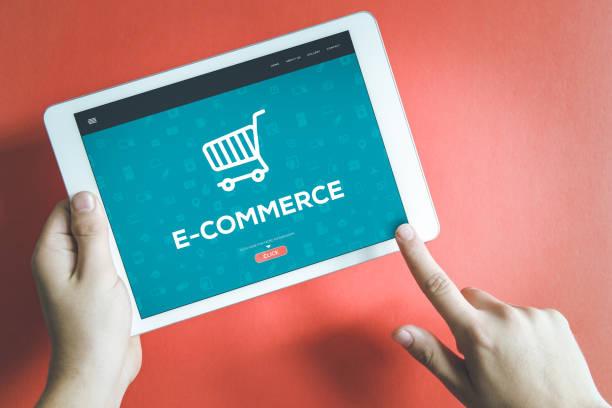 concepto de e-commerce - comercio electrónico fotografías e imágenes de stock