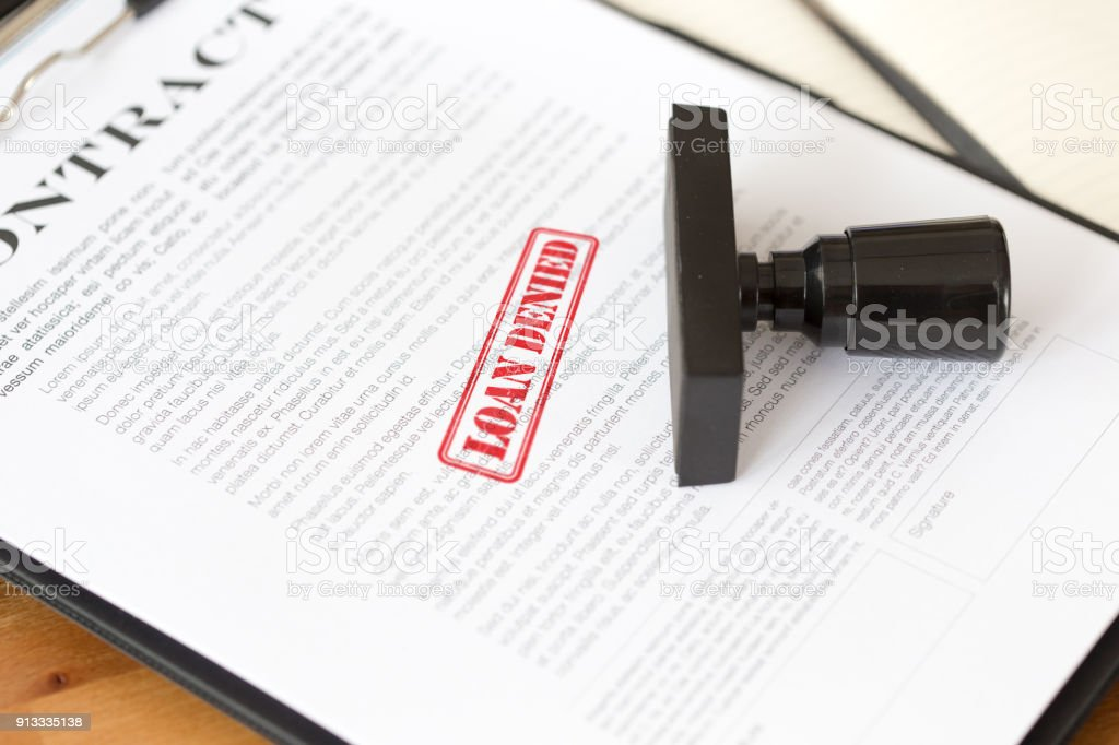 LOAN DENIED CONCEPT stock photo