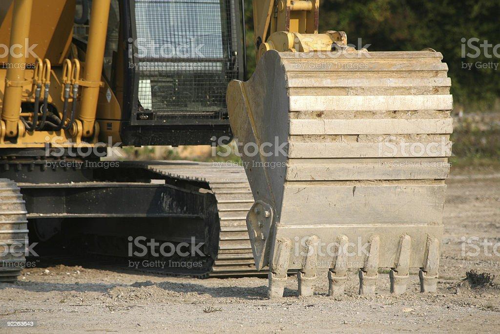 BACK HOE - UP CLOSE stock photo