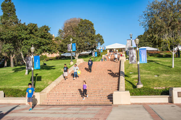 UCLA Los Angeles, CA: October 20, 2017: Janss Steps on the UCLA campus. UCLA is a public university in the Los Angeles area. ucla stock pictures, royalty-free photos & images
