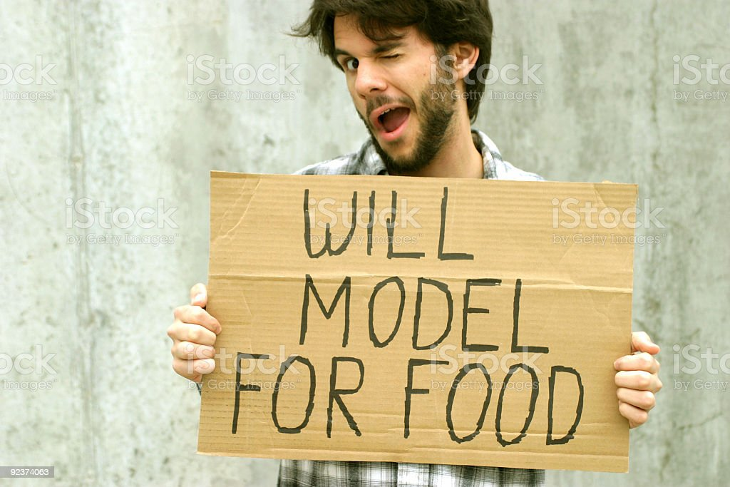 WILL MODEL FOR FOOD royalty-free stock photo