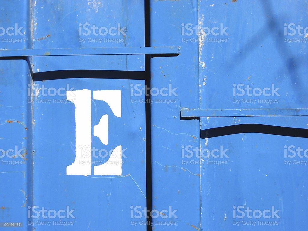 E royalty-free stock photo