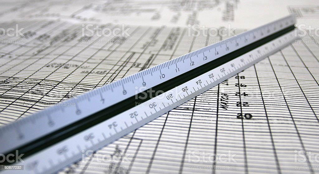 ENGINEERS SCALE stock photo
