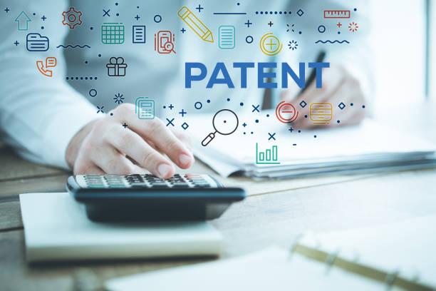 brevet concept - marque déposée photos et images de collection
