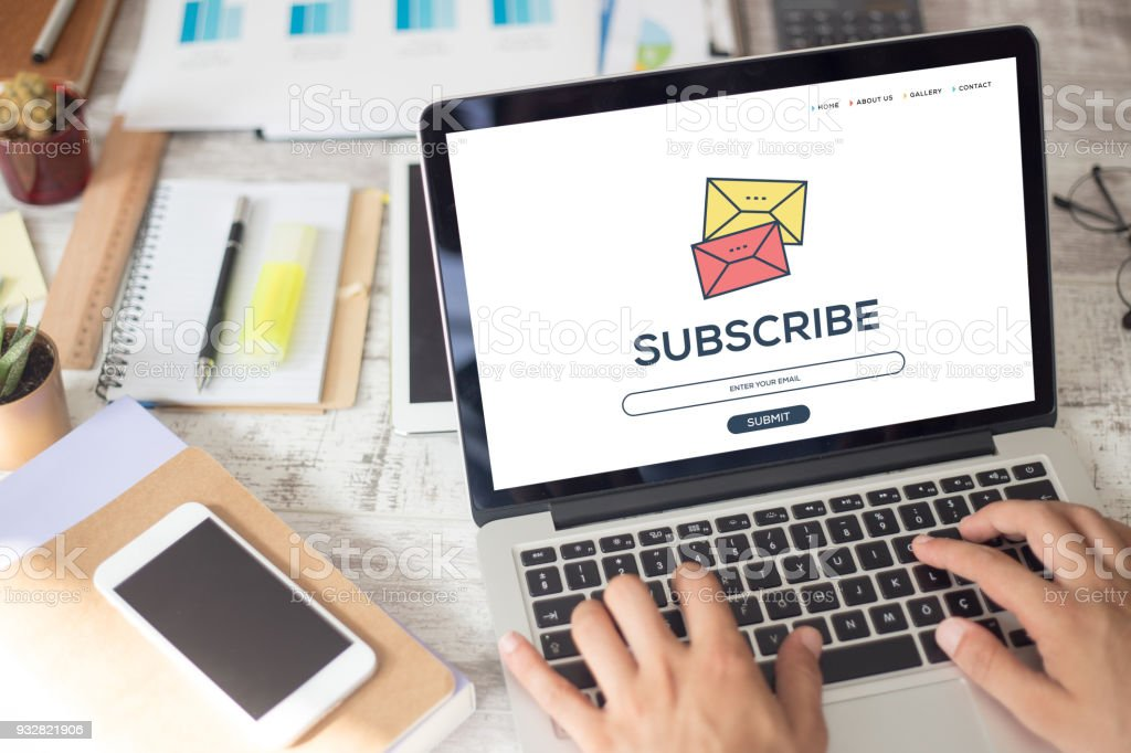 SUBSCRIBE CONCEPT stock photo