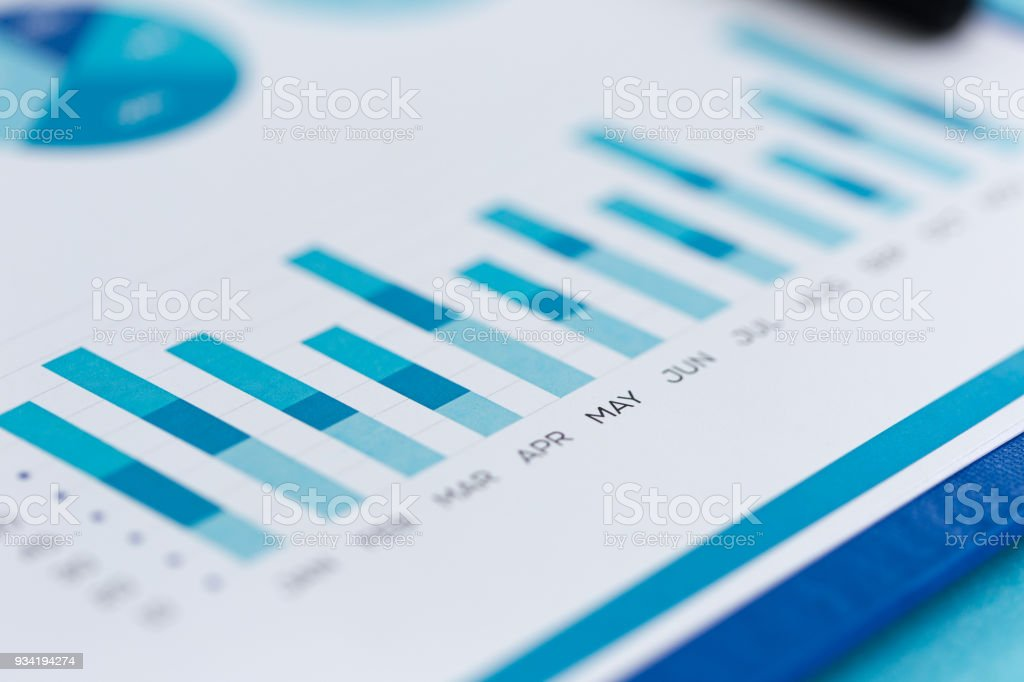 FINANCIAL REPORT CONCEPT stock photo