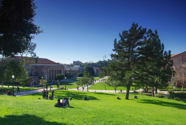 UCLA Los Angeles, USA - January 5, 2011: A photo of UCLA. The University of California, Los Angeles (UCLA) is located in the Westwood neighborhood of Los Angeles. ucla stock pictures, royalty-free photos & images