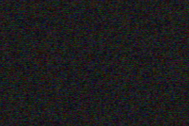 glitch! schlechte störungen für digitale tv-testbild - gepixelt stock-fotos und bilder
