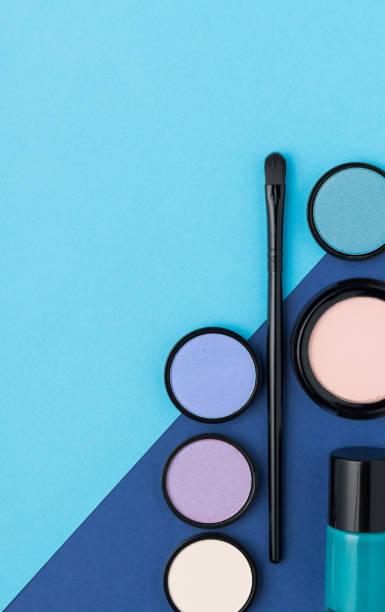 make-up - blaues augen make up stock-fotos und bilder
