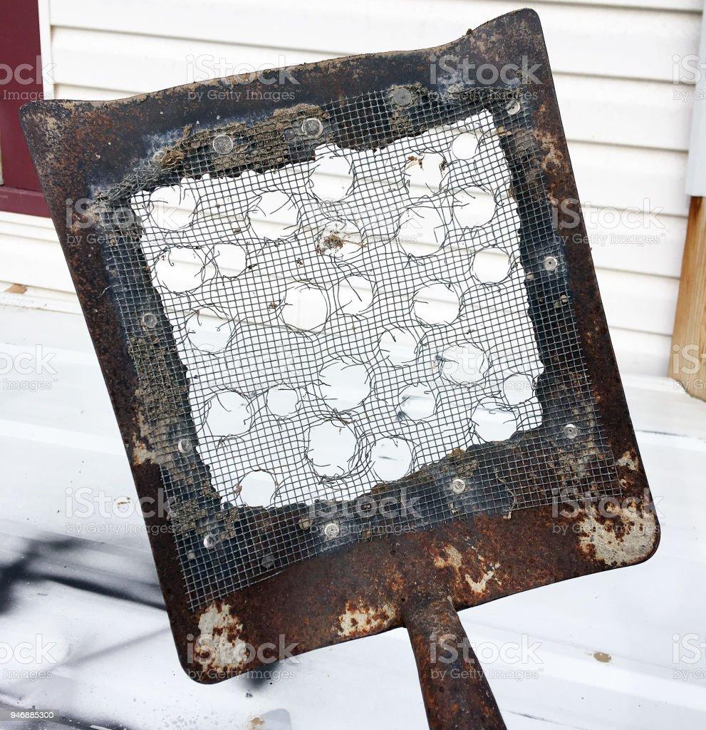 HILLBILLY LITTER BOX SHOVEL stock photo