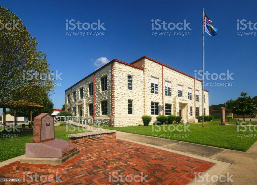 LATIMER COUNTY COURTHOUSE stock photo
