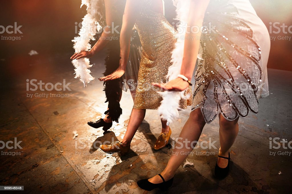 DANCE THE CHARLESTON! stock photo