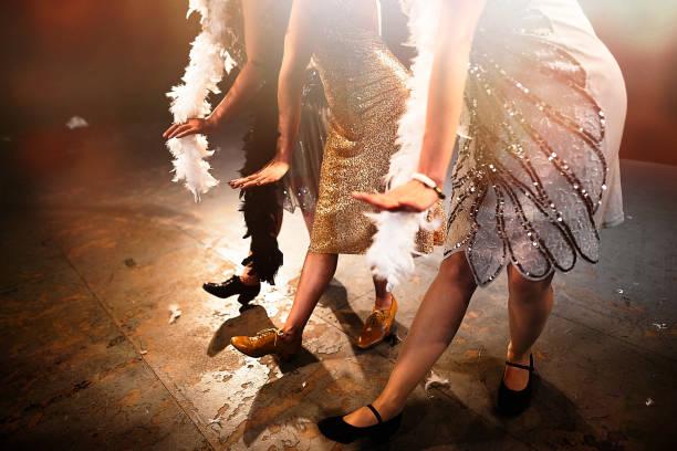 DANCE THE CHARLESTON! stock photo