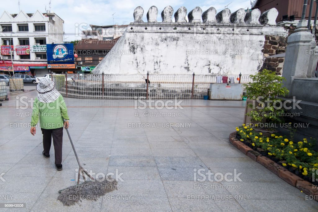 THAILAND ISAN KHORAT CITY WALL CHUMPHON GATE stock photo