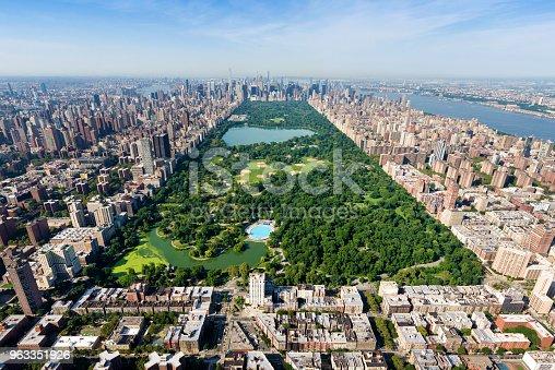 Aerial shot of Central Park, Manhattan, New York.