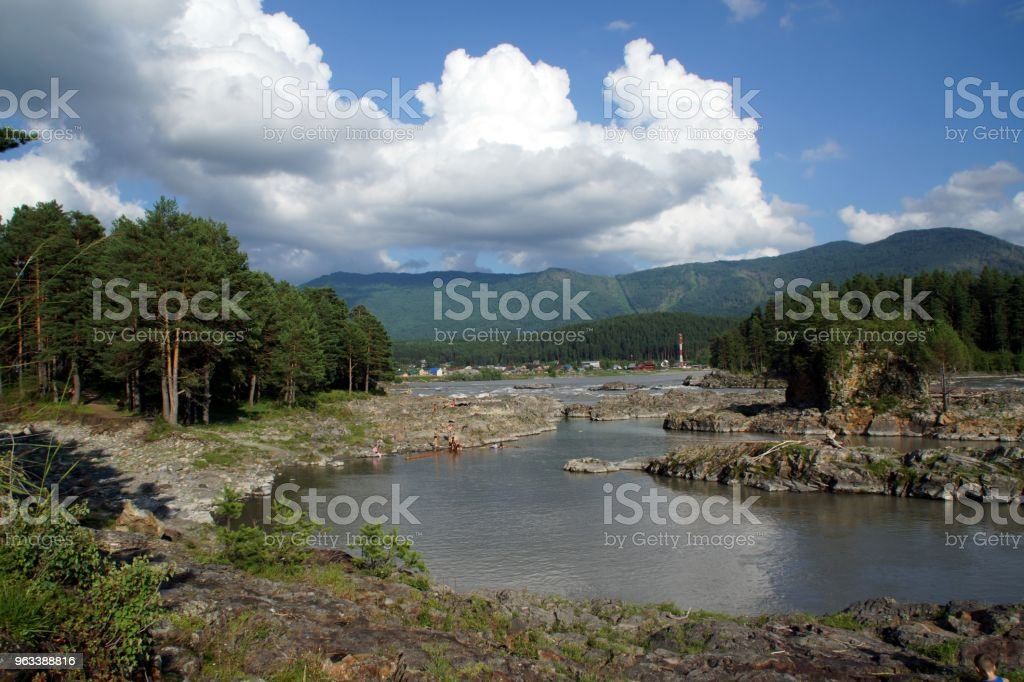 Река Катунь - Zbiór zdjęć royalty-free (Bez ludzi)