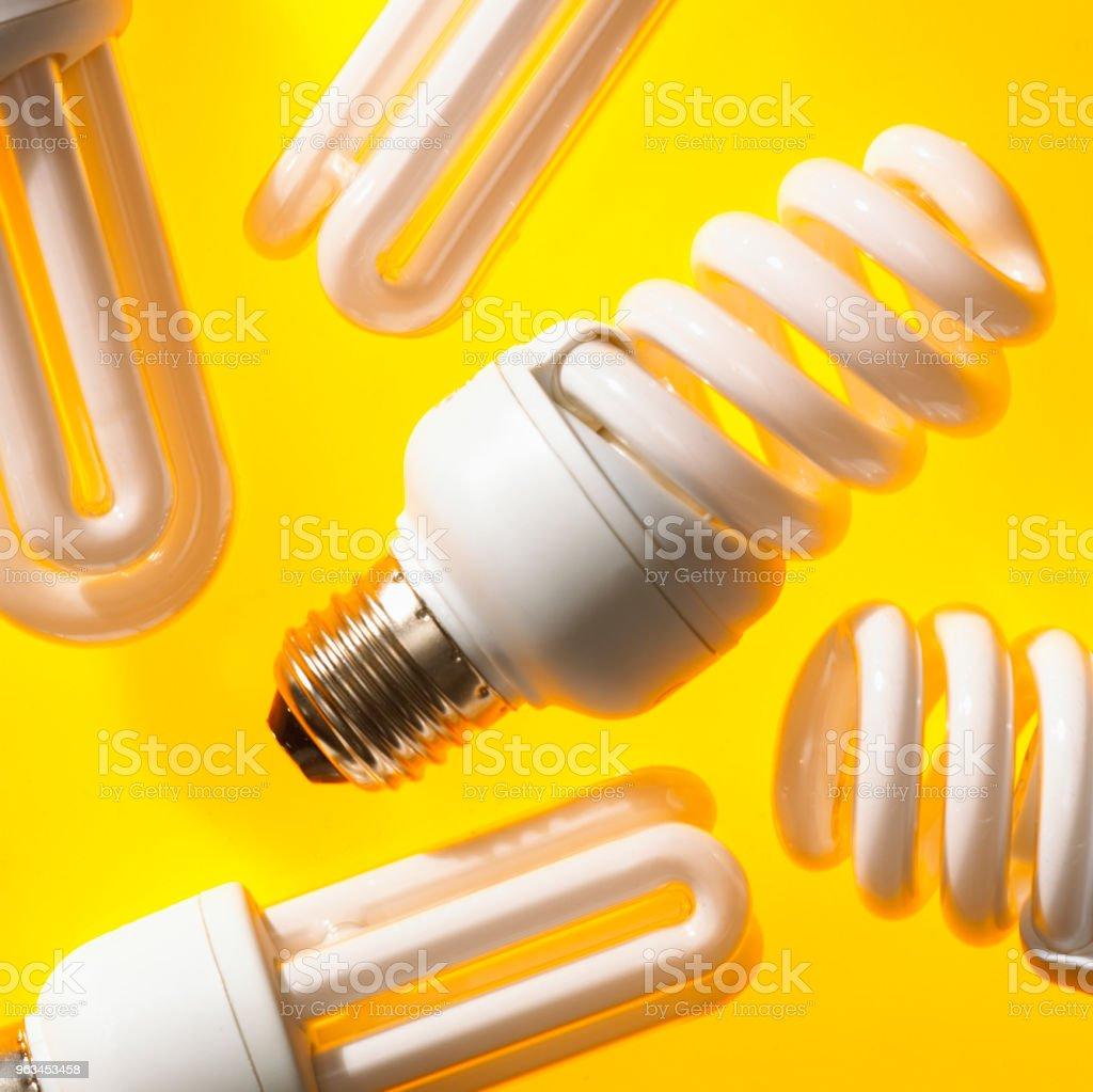 ENERGY SAVING LIGHT BULBS - Zbiór zdjęć royalty-free (Bez ludzi)
