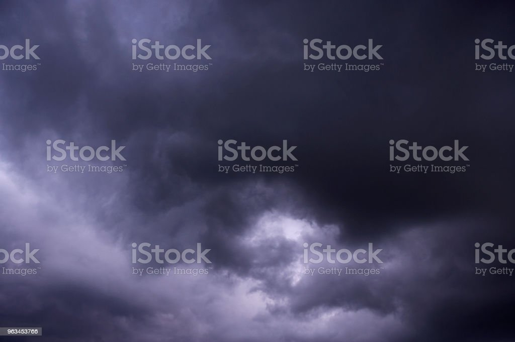 GREY STORM CLOUDS stock photo