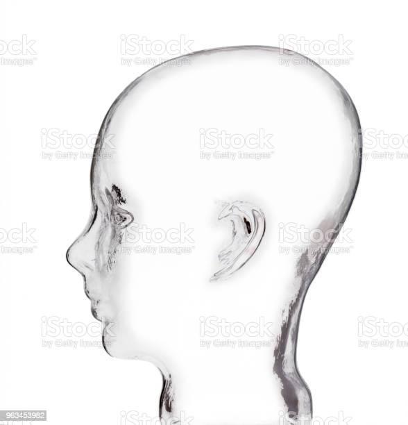 Szklany Model Ludzkiej Głowy - zdjęcia stockowe i więcej obrazów Bez ludzi