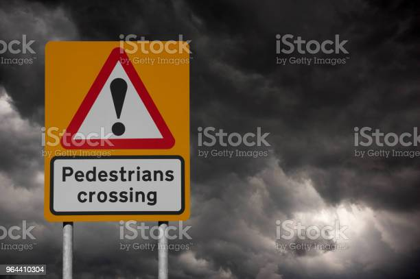 Foto de Sinal De Passagem Para Pedestres Amarelo e mais fotos de stock de Amarelo