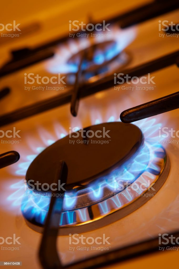 GAS FORNUIS VLAM - Royalty-free Blauw Stockfoto